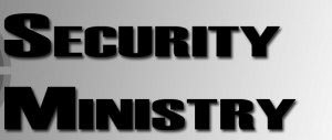 Security Ministry banner